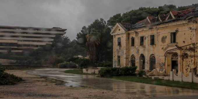 Купари город-призрак в Хорватии