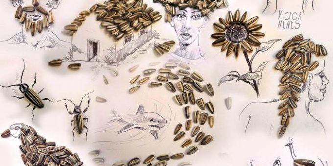 Виктор Нунес иллюстрации из еды