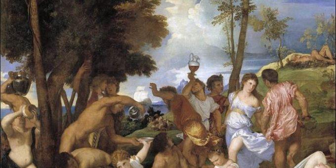 «Вакханалия» картина Тициана