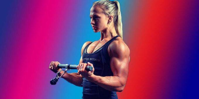 Восьмикратная чемпионка мира по армрестлингу, блондинка Сара Бекман из Швеции