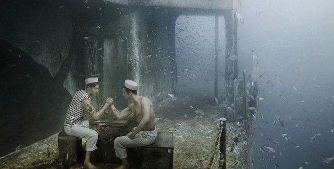 Andreas Franke серия фотографий под водой «Mohawk»