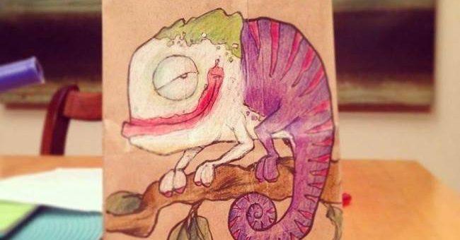 Разрисованные пакеты для сына от иллюстратора Брайана Данна