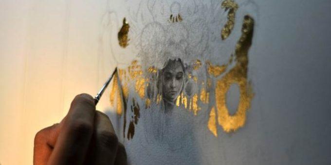 Yoann Lossel картины золотом