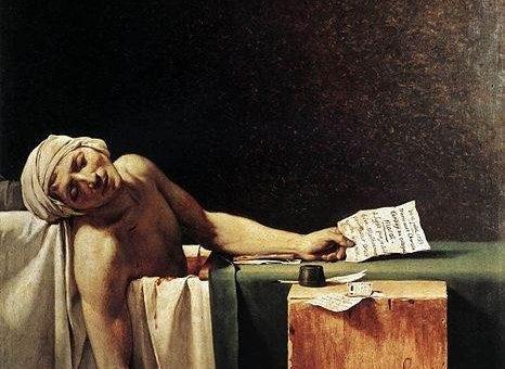 «Смерть Марата» картина, Жак-Луи Давид