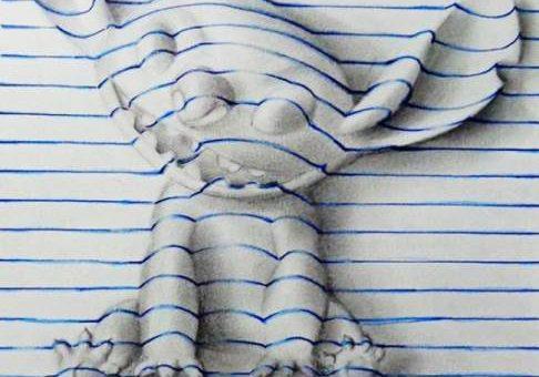 Джордж Карвальо объёмные рисунки в тетради