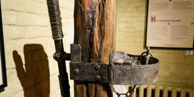 Музей «Орудия пыток средневековья» в Петропавловской крепости, Петербург