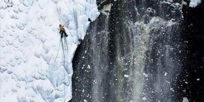 Ледяные водопады фото