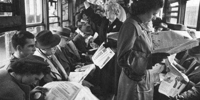 Фотограф Стэнли Кубрик (Stanley Kubric) - Метро Нью-Йорка, 1946
