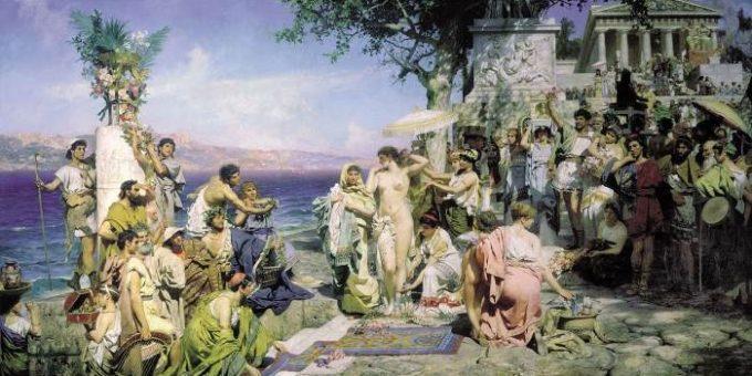 «Фрина на празднике Посейдона в Элевсине» картина Генриха Семирадского