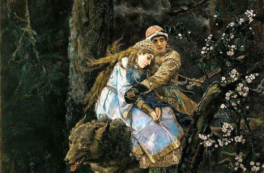Картина Васнецова «Иван Царевич на сером волке»