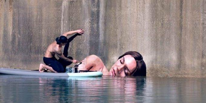 Стрит-арт от уличного художника и серфингиста Шона Йоро (Хула)