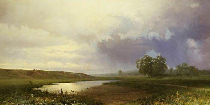 «Мокрый луг» картина Фёдора Васильева