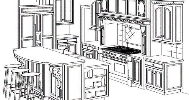 Как рисовать мебель: основные этапы работы