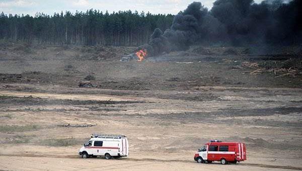 Падение вертолёта под Рязанью 2 августа 2015 фото и видео