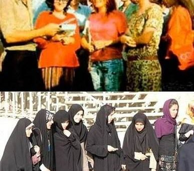 Иран до и после исламской революции фото