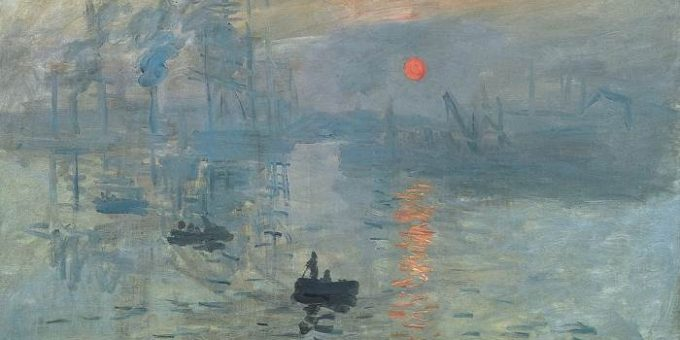 «Впечатление. Восход Солнца» картина Моне