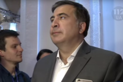 Саакашвили вошёл в транс под гимн Украины видео