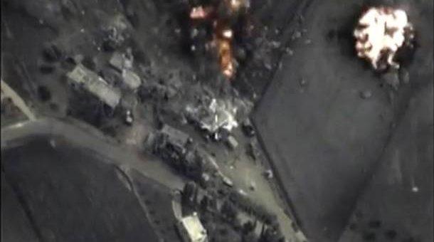 Российская авиация в Сирии наносит новые удары видео