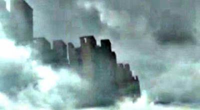 Призрачный город в небе над Китаем видео