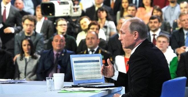«Прямая линия» с Путиным 14 апреля 2016 видео