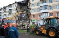 В Междуреченске обрушился подъезд дома фото и видео