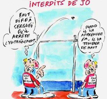 Charlie Hebdo карикатура на российских легкоатлетов
