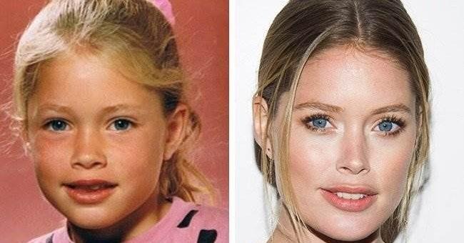 Известные модели в детстве и сейчас