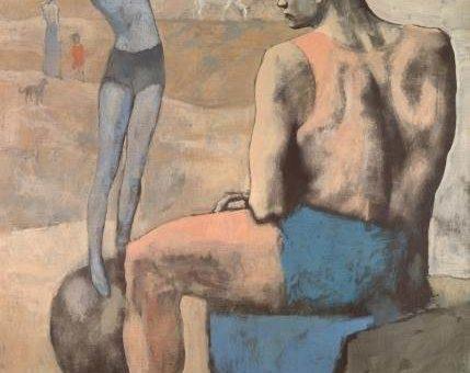 Девочка на шаре картина Пабло Пикассо