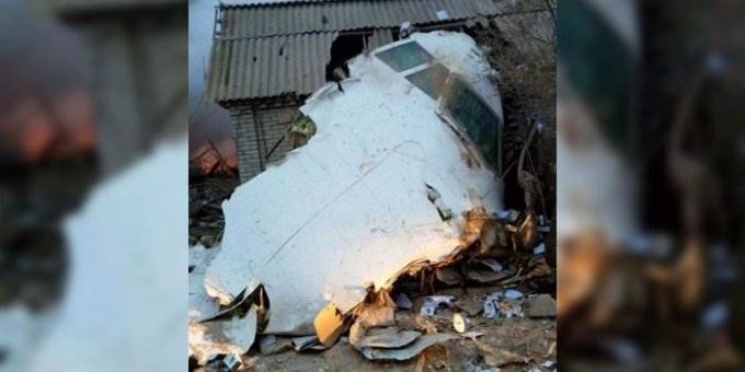 Под Бишкеком рухнул самолёт 16 января 2017 фото и видео