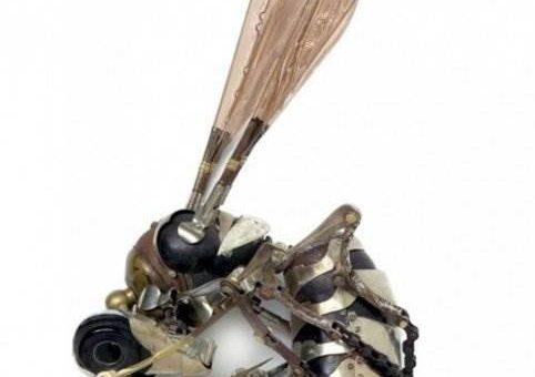 Металлические скульптуры из мусора (Эдуард Мартинье)