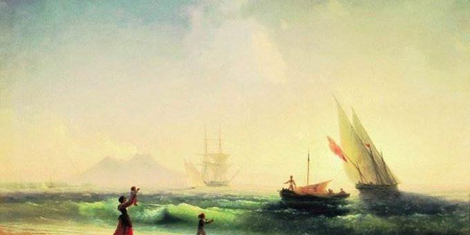 Встреча рыбаков на берегу Неаполитанского залива - Айвазовский