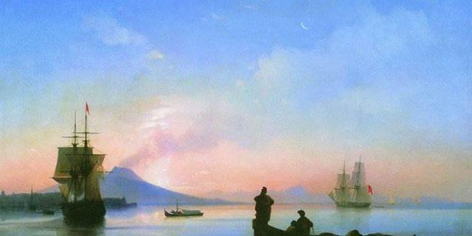 Неаполитанский залив утром - Айвазовский