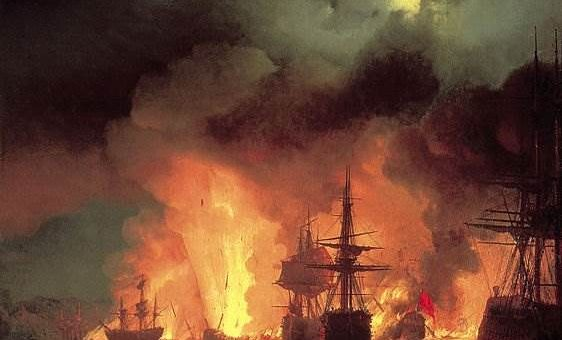 Чесменский бой картина Айвазовского