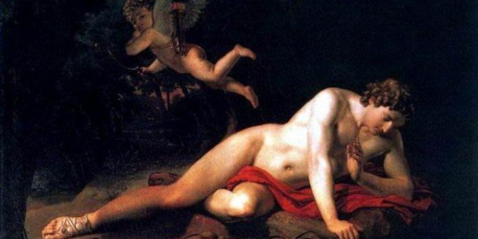 Нарцисс картина Брюллова