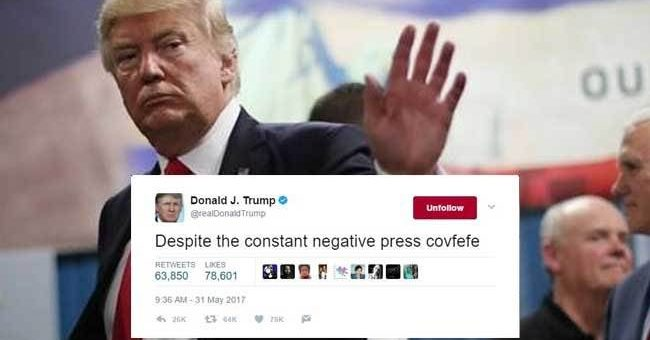 Клинтон назвала слово covfefe скрытым посланием Трампа для русских