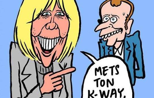 Charlie Hebdo карикатура на Макрона и его жену