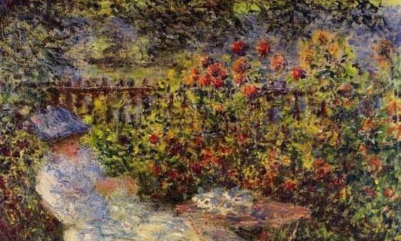 Алиса Хосхеде в саду - Клод Моне