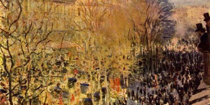 Бульвар Капуцинок - картина Клода Моне