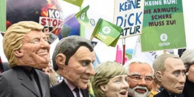 Протесты в Гамбурге на G20 фото и видео