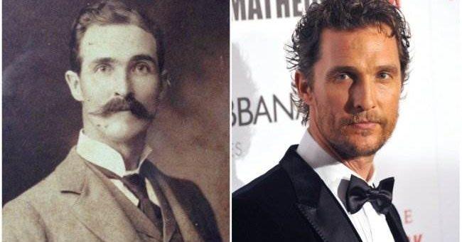 Исторические двойники известных актёров (20 фото)