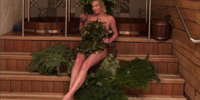 Анастасия Волочкова фото в бане