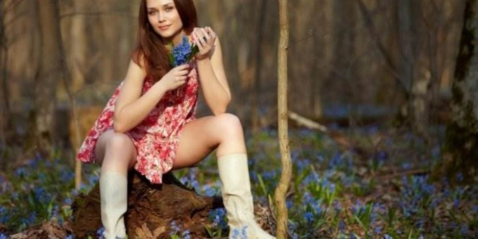 Самые красивые девушки весной (20 фото)