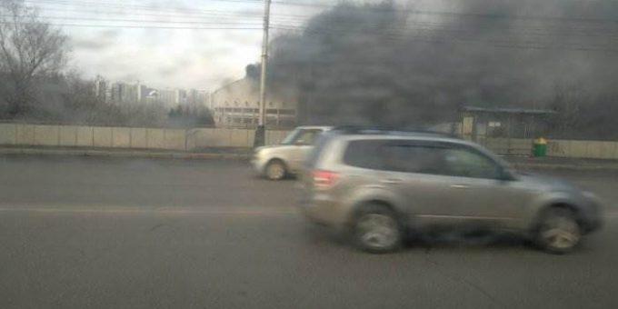 Пожар во дворце спорта им. Ярыгина фото