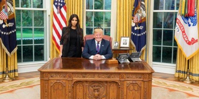 Трамп встретился с Ким Кардашьян фото