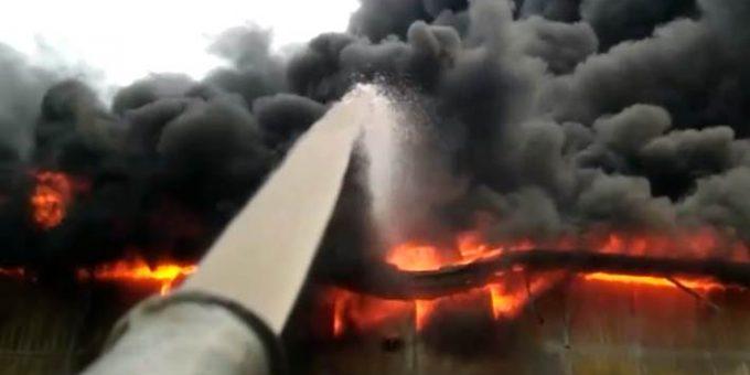 Пожар в Краснодаре 4.07.2019 фото и видео