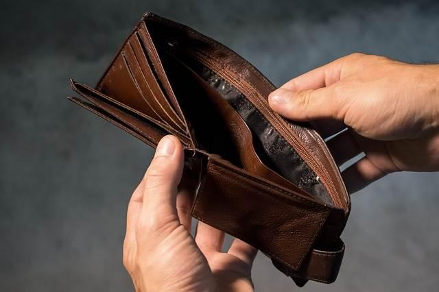 Банкрот с пустым кошельком фото