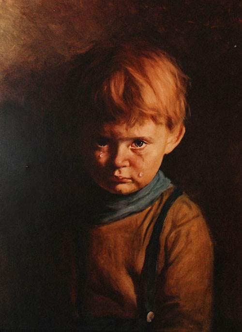Картина Плачущий мальчик Джованни Браголин