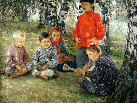 Богданов-Бельский картина Виртуоз