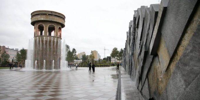 Сквер ангелов в Кемерове фото