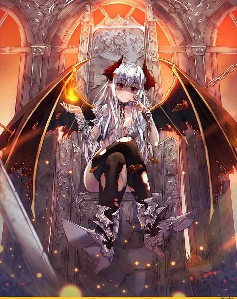 Картинки девушки демона аниме